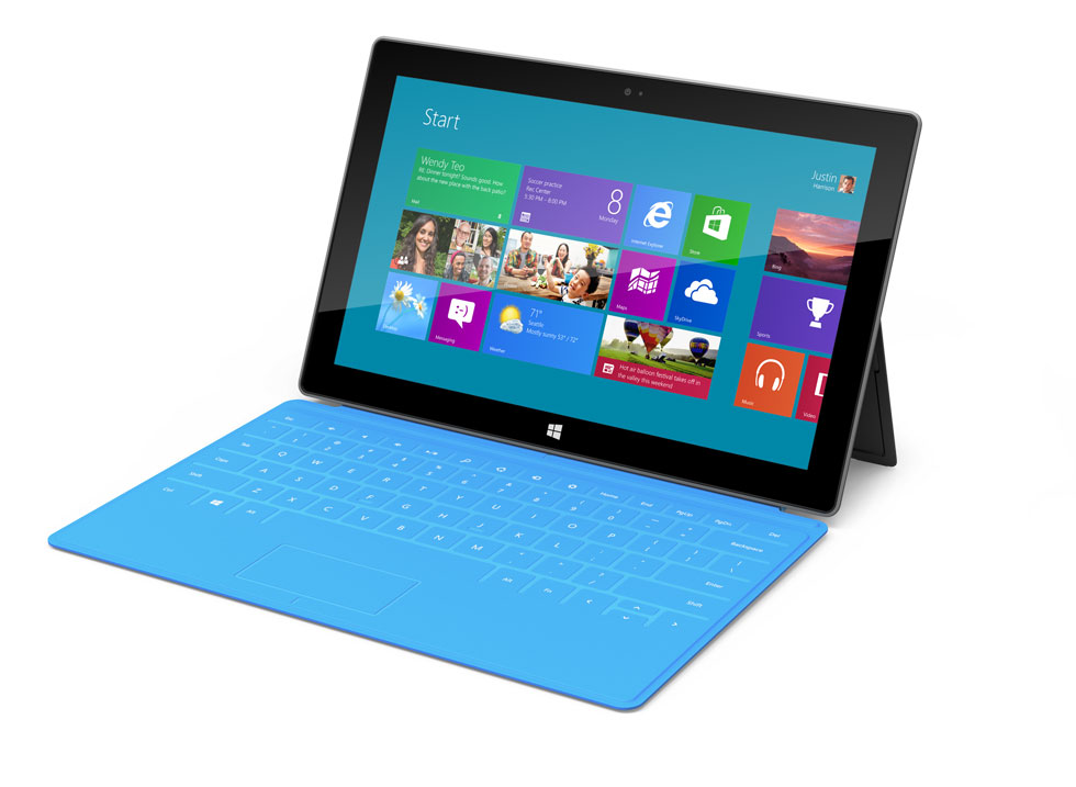 "Microsoft launches ""Surface"""